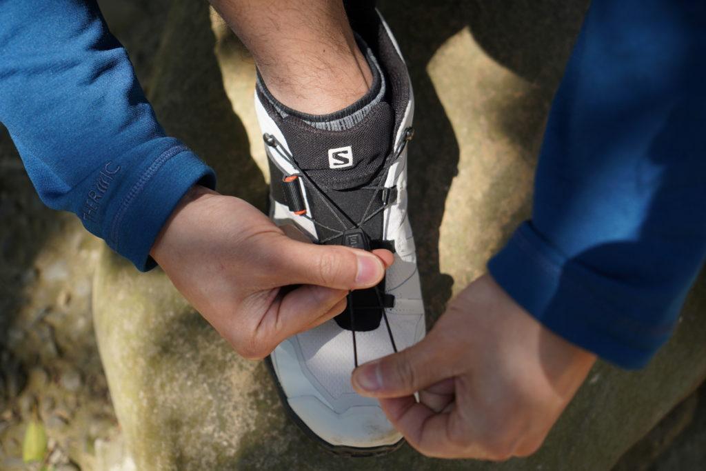 Salomon 快綁鞋帶設計