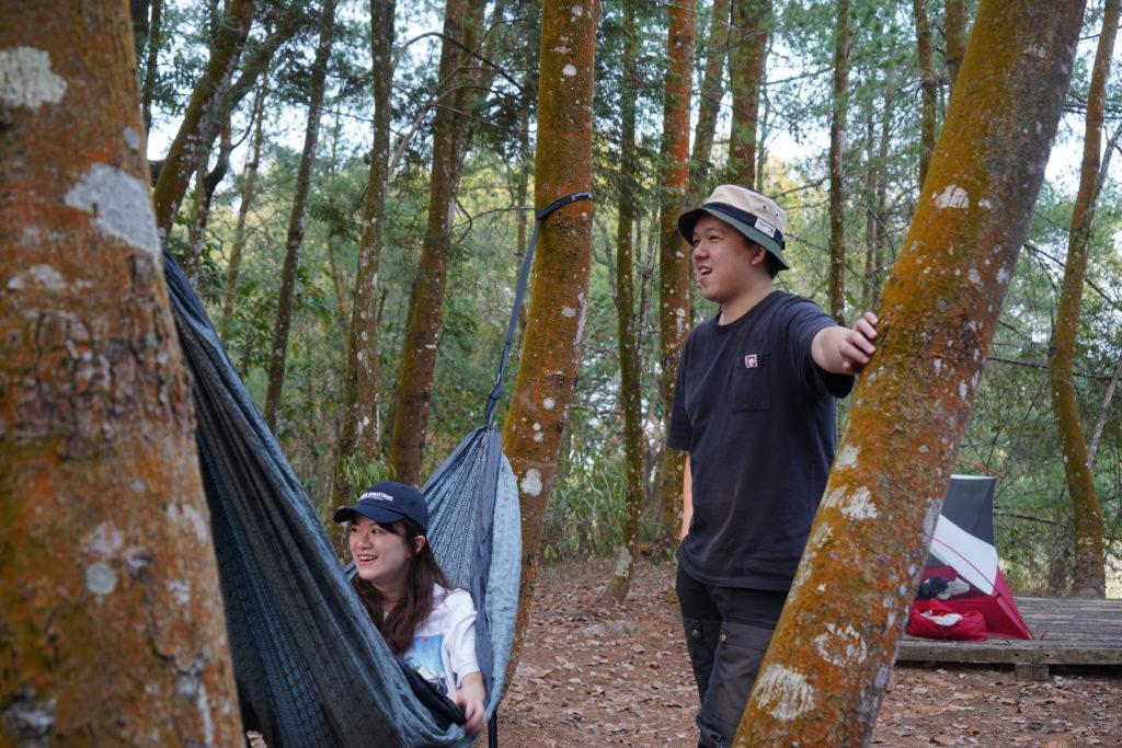 露營必備的雙人吊床
